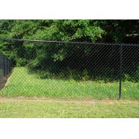 China Black Chain Link Fence Mesh PVC Coated  , Public Grounds Chain Mesh Fencing on sale