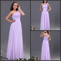 Light Purple Bridesmaid Wedding Dresses / Pleated Bridesmaid Ball Gowns