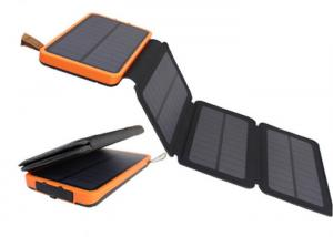 China Outdoor Help Light High Power Folding 3 Section Solar Energy Power Bank 8000mAh on sale