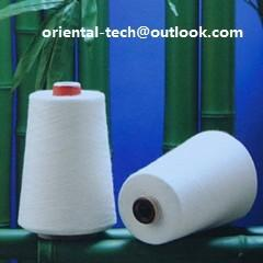 China 100% natural bamboo fiber yarn for knitting or for weaving on sale