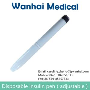 China Plastic of disposable insulin pen supplier