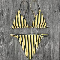 Wholesale and Retail 2018 Women Sexy Striped Triangle Brazilian Bikini Set