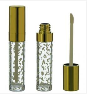 China Gold Clear Lip Gloss Tube, Gold lip gloss tube, Gold lip gloss container on sale