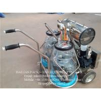 China Dairy Cow Mobile Milking Machine With Plastic Buckets ,  1100W 50kpa on sale