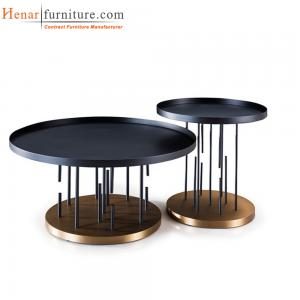 China Contemporary Metal Modern Living Room Coffee Table For Hotel Furniture on sale