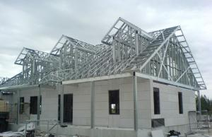 China Luxury Prefab Steel House Construction / Steel Frame Homes CE SGS Listed wholesale
