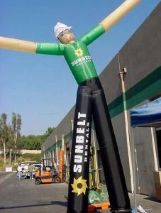 China Inflatable air dancer / air tubes / inflatable sky man double leg air man on sale