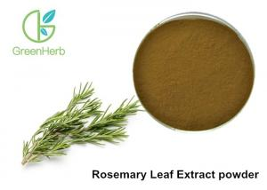 China 5% Rosmarinic Acid Rosemary Leaf Extract Powder Brown Yellow Color on sale