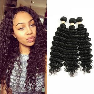 China No Smell 8A Peruvian Human Hair Weave Deep Wave Soft Curly Weave Hair on sale