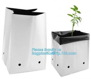 China LDPE Polyethylene plastic garden planter bags for vegetable, tree and flower seedling,15 GALLON Hole Plastic LDPE Grow B on sale