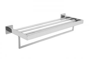 China Towel Shelf  Polished Bathroom Accessory Stainless Steel 304 Easy Installation on sale