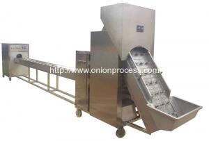 China Onion Peeling and Root Cutting Processing Line on sale