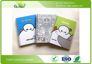 China SGS A5 Glue / Spiral Bound Notebook With 90 Sheets Inside Recycled  Paper on sale