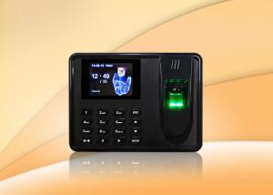 China Thumbprint time attendance system biometrics security with SSR report , Scheduled bell on sale