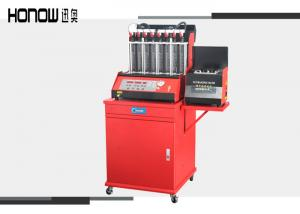 China 8 Cylinder Fuel Injector Tester And Cleaner , Car Injector Cleaning Machine on sale
