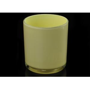 Quality 70ml Sprayed Inside Glass Cylinder Candle Holders Home Decoration for sale