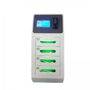 China 4 Door Secure Locker Cell Phone Charging Stations for Airport with Coin Acceptor and Credit Card Reader on sale