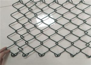 China 25x25 Mm 9 Gauge Chain Link Fence , Plastic Coated Wire Mesh For Sport Field on sale