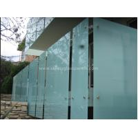 China Shower Room Obscure Acid Etched Glass Patterns , Double Sided Auto Float Glass on sale