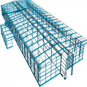 China Prefab Portable Steel Frame Workshop Buildings With Light Steel Structure on sale