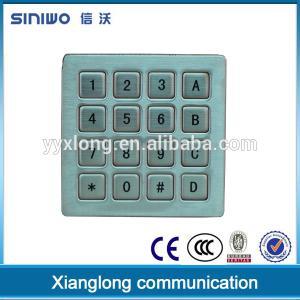 China Zhejiang 2015 new developing 16 keys mini numeric metal keypad for door lock B37 on sale