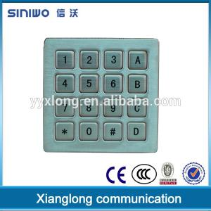 China Zhejiang High Quality Mini Matrix Fully Metal Keypad for door opener B37 on sale