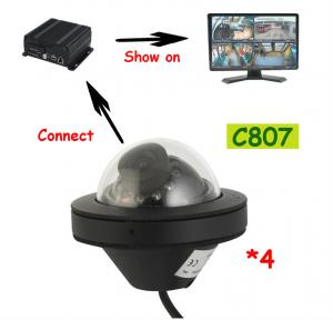 China Recoda C807 1080P AHD Mini Dome IP68 Truck Reversing Camera weatherproof with fixed lens on sale