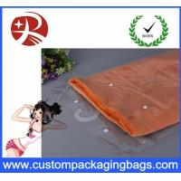 China Waterproof Transparent Pvc Hook Bag For T - Shirt Packing , Eco Friendly on sale