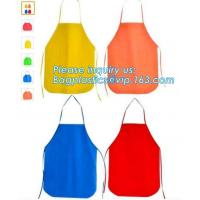 fabric apron, texitile apron, woven apron, children apron, non woven cap, noon woven aprons, aprons supplies, bakery apr