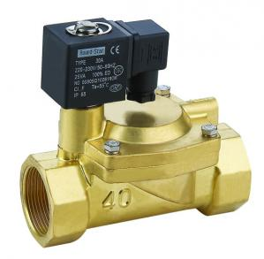 China Small Low Power Electric Solenoid Water Valve Direct Acting 220VAC on sale