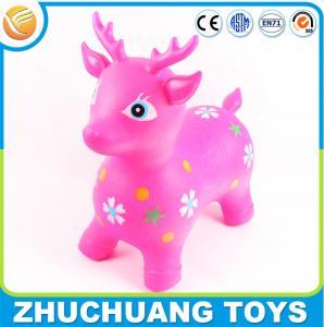 China colorful plastic cartoon deer zoo animal toys for kids on sale