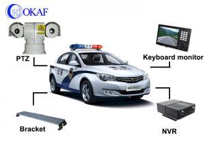 China Full HD Laser Vehicle PTZ Camera , Mobile Police Car PTZ Camera 300m Night Vision on sale