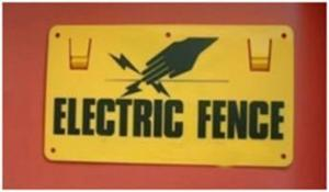 China Electric Fence Sign on sale