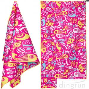 China Quick Dry Super Absorbent Lightweight Microfiber Beach Towels For Travel on sale