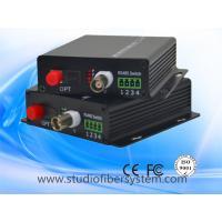 1ch analog video+analog audio/data fiber converter for CCTV system