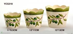 China Garden decorative hand painted ceramic pots on promotion on sale
