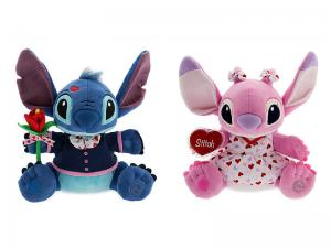 China Green and Pink Valentine Day Stitch and Angel Plush toys Super Soft Material on sale