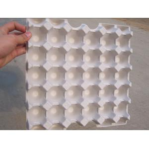 China Smooth Molded Pulp Products Egg Tray With Good Stacking And Nesting Performance on sale