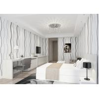 Waterproof Non woven Wallpaper Curve Lines Pattern for Living Room 0.53*10M