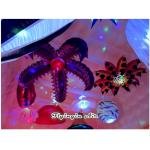 2m Hanging Toothed Inflatable Flower for Party, Exhibition and Event Decoration