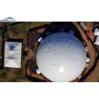 Hot Galvanized Steel Tube Geodesic Dome Tent Marquee With Hard Wall System
