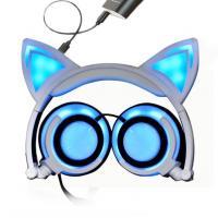 Foldable Flashing Glowing Sport Bluetooth Earphone HIFI Stereo With Cat Ear