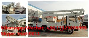 China 2018s SINO TRUK HOWO new 12-18m hydraulic aerial working platform truck for sale, High altitude operation truck on sale