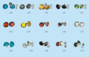 China Crystal , Brass Custom Snap Buttons Rhinestone Nailhead Stud For Clothing / Shoes on sale