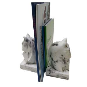 China Decoration Marble Concrete Bookends 2 Pcs For Study Room 7.6×9.5×16CM on sale
