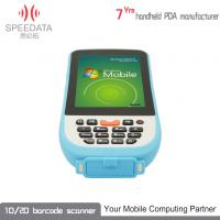 Industrial Android Rugged PDA Thermal Printer Blue 4.3