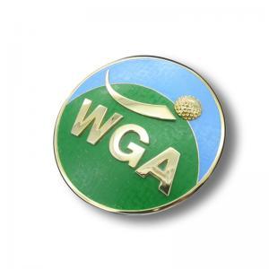 China Factory direct golf club car badge club logo car head metal badge on sale