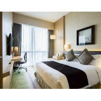 Light color Resort 4 Star Hotel Bedroom Furniture Sets Plywood Panel Type