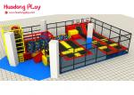 Foam Pit Customized Professional Trampoline Equipment  For 200 Sqm Indoor Amusement Playground