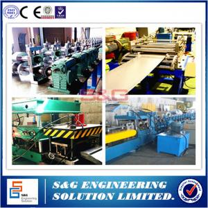 China Upright Storage Rack Roll Forming Machine 45# Steel Sharft Material on sale